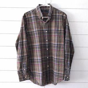 Ralph Lauren Green Plaid Button Down Shirt